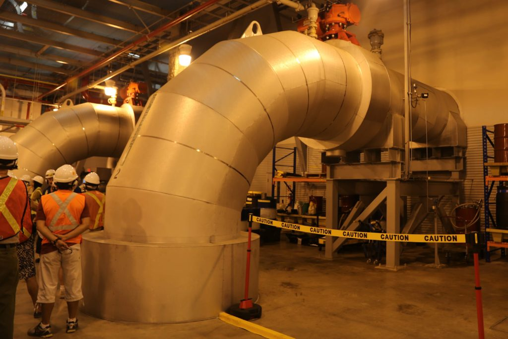 Huge pipe of cooling water