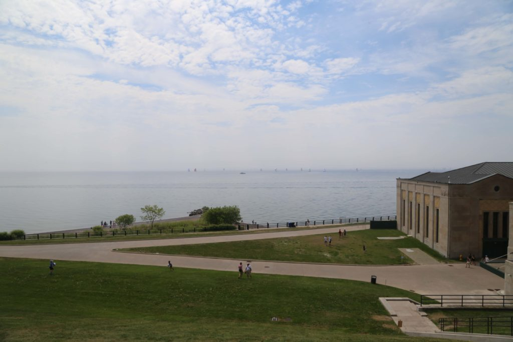 View of Lake Ontario from filtration building