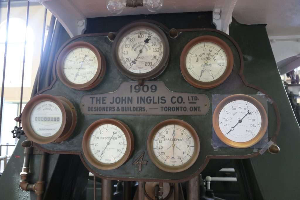 Original steam engine gauges