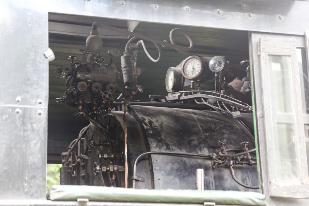 A look inside the locomotive