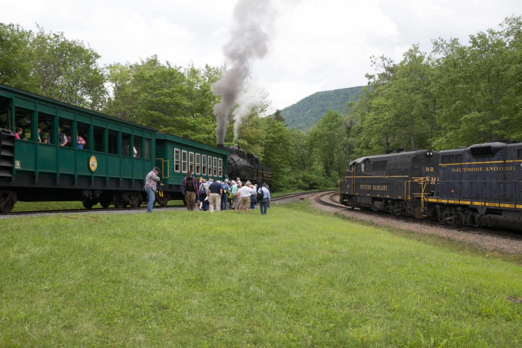 Transferring from the Cheat Mountain Salamander train to the Cass train