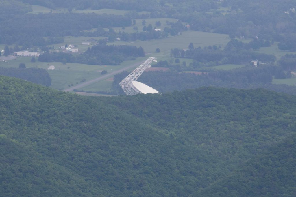 View from Bald Knob of Green Bank Telescope