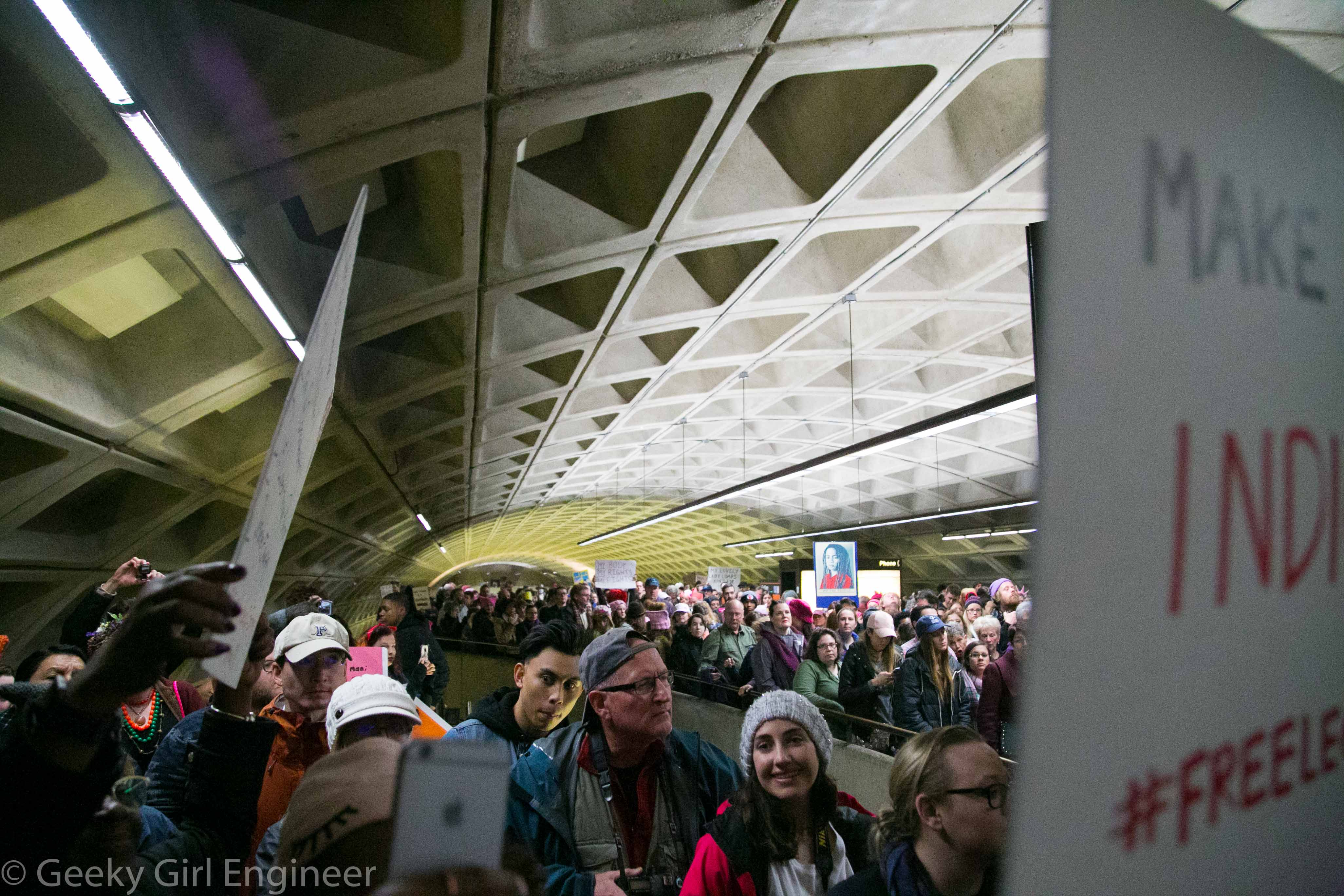 Trying to get out of L'Enfant Metro station