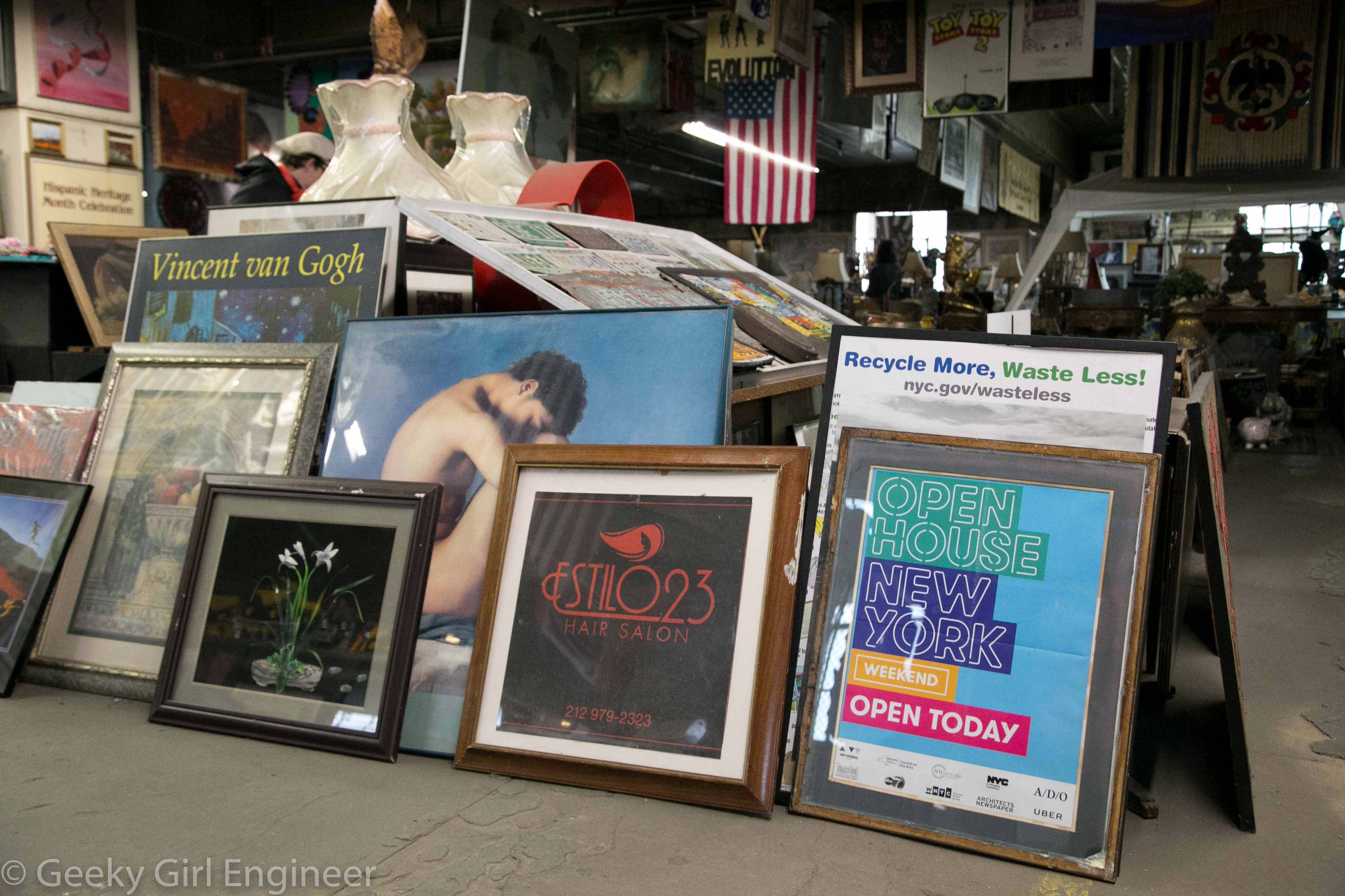 Lots and lots of posters, including one for Open House New York, which arranged the tour