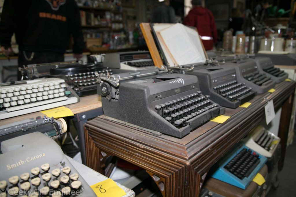 Old typewriters