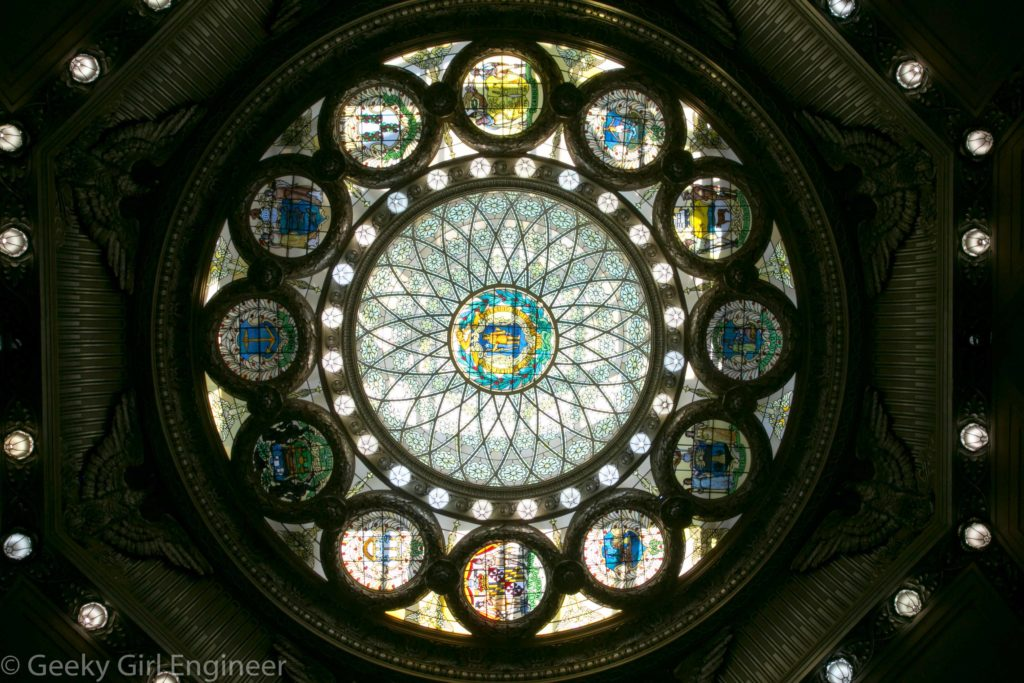 Glass ceiling of Memorial Hall