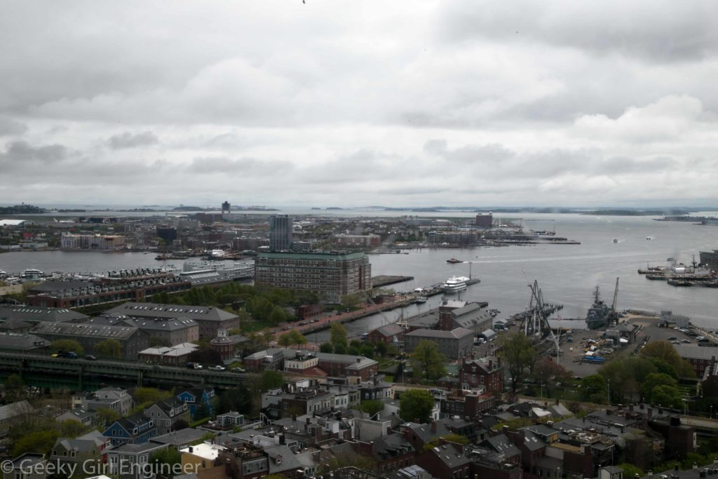 View of Navy Yards and USS Constitution