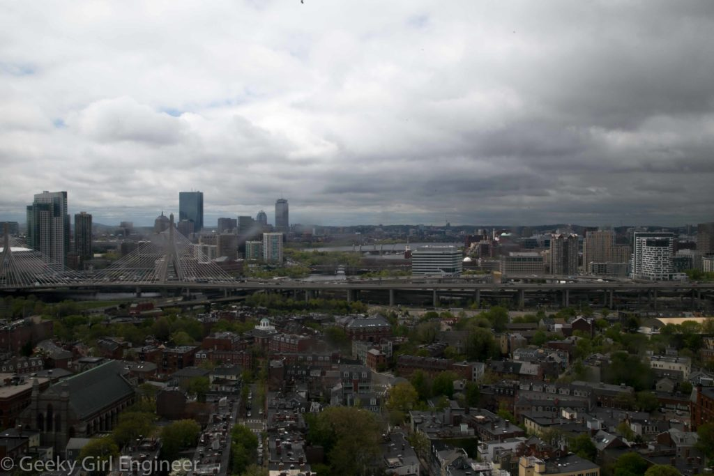 View of downtown Boston and Back Bay