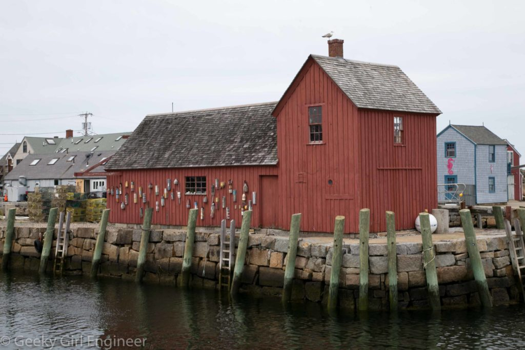 """Motif Number 1"" on Bradley Wharf in Rockport"