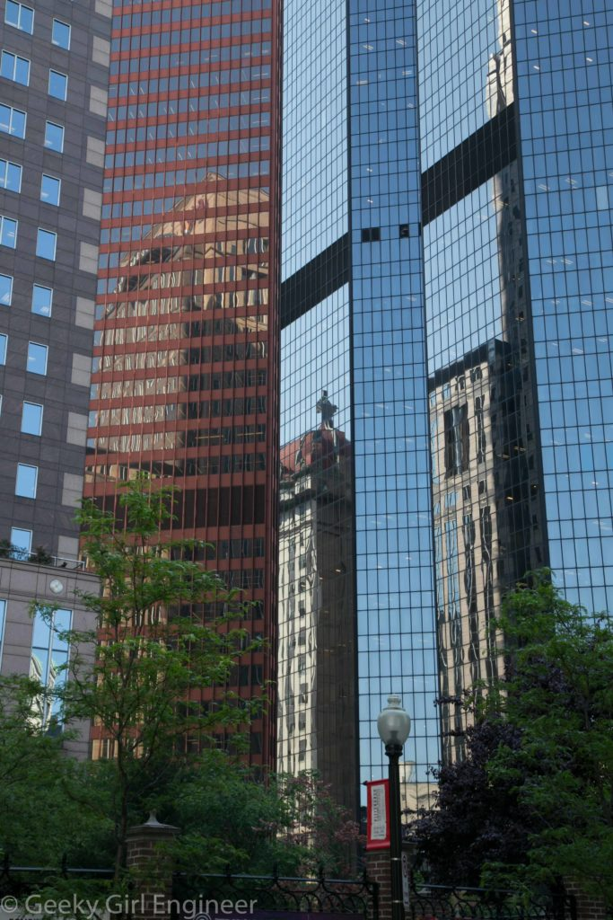 Building reflections downtown
