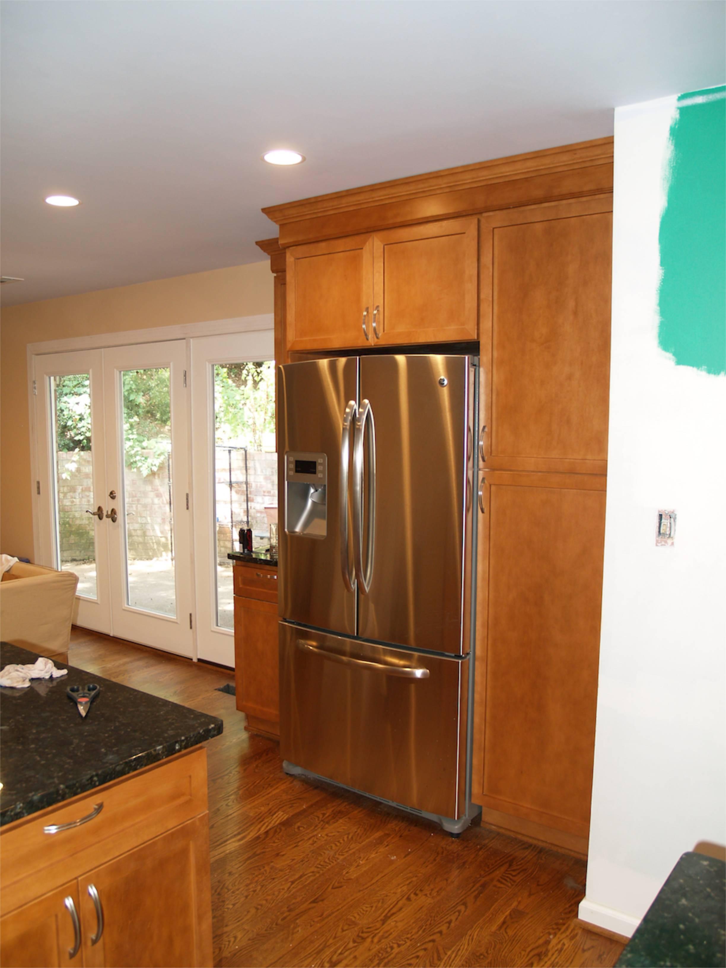 refrigerator area cabinets - Geeky Girl Engineer
